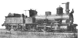 Locomotora PONFERRADA, nº 1645, del AGL, fabricada por Koechlin en 1865, archivo Zurdo de Olivares