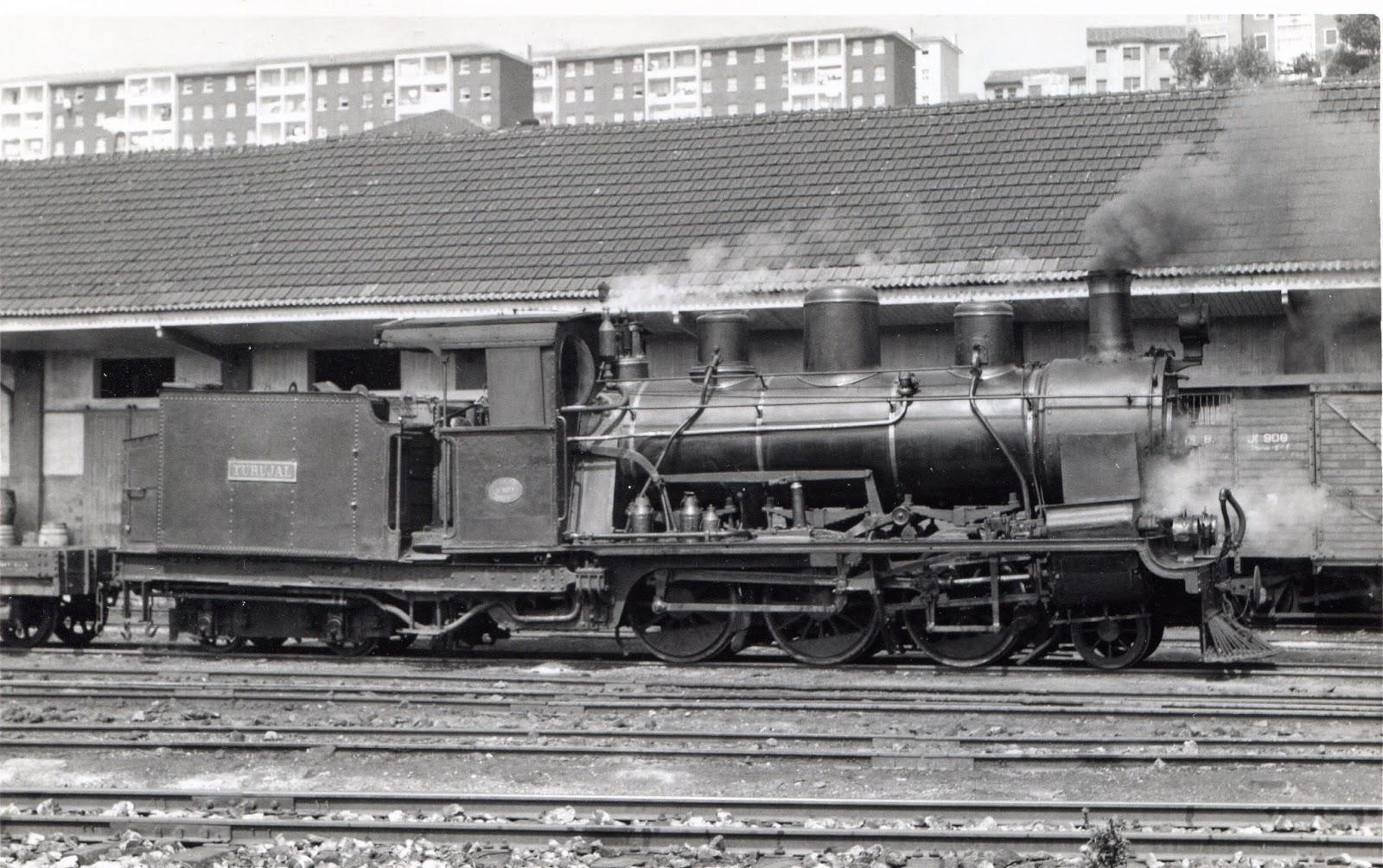 Locomotora Turujal, del Fc del Cantabrico (Santander a Llanes) , foto Frank Jones, Fondo Euskotren , MVF