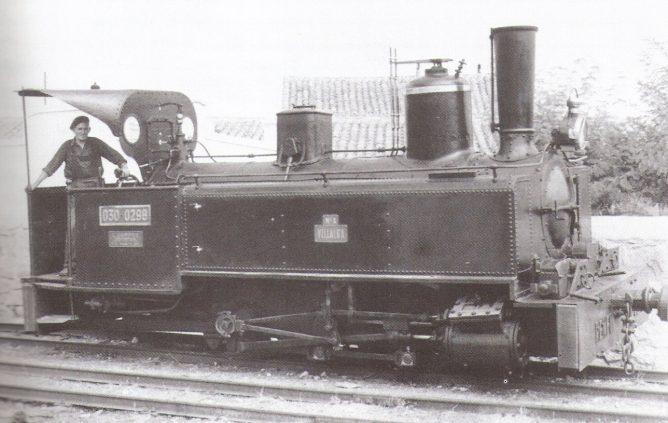Locomotora Villaba - 030-0298. Foto Juan Bta Cabrera- coleccion Javier Arnguren