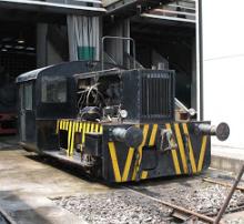 Locomotora de Cristaleria Española, Museo del Ferrocarril de Gijón