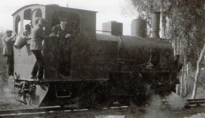 Locomotora de Minas de Cala , año 1929, (WordPress)