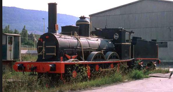 Locomotora de vapor ex MZA nº 8-Portñland Valderrivas- Olazagutia, foto Victor Prieto