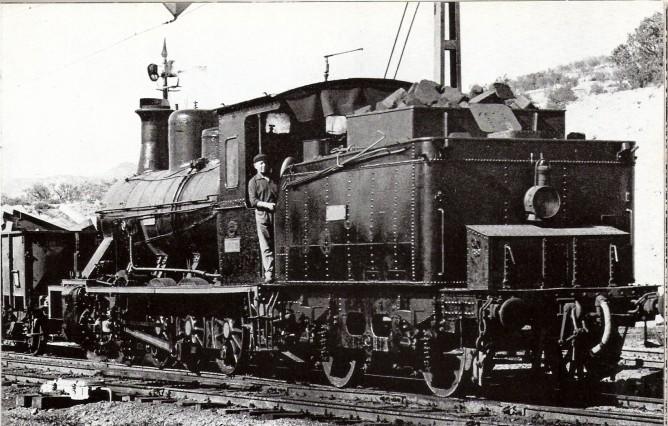 Locomotora del Alcañíz-Puebla de Hijar, España-040-2188. foto Enrique Jansá