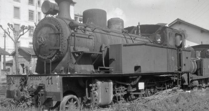 Locomotora del Vasco Navarro en Guernica