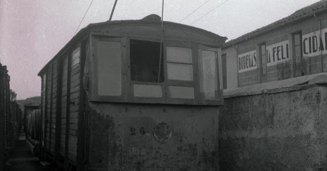 Locomotora del ferrocarril de La Loma, foto M. Salinas ,