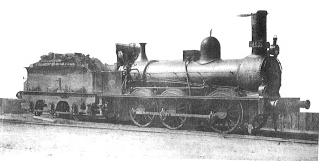Locomotora del ferrocarril de Zaragoza a Barcelona, nº 1409, fabricada ppor Shaph Stewart en 1861 , archivo Zurdo de Olivares