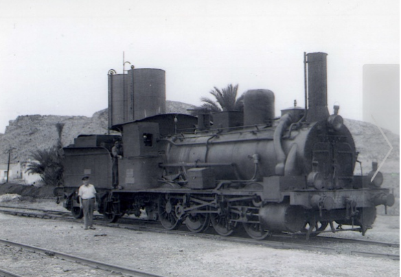 Locomotora en Albatera