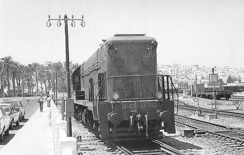 Locomotora en Tanger , fotografo desconocido Fondo Tanger Express