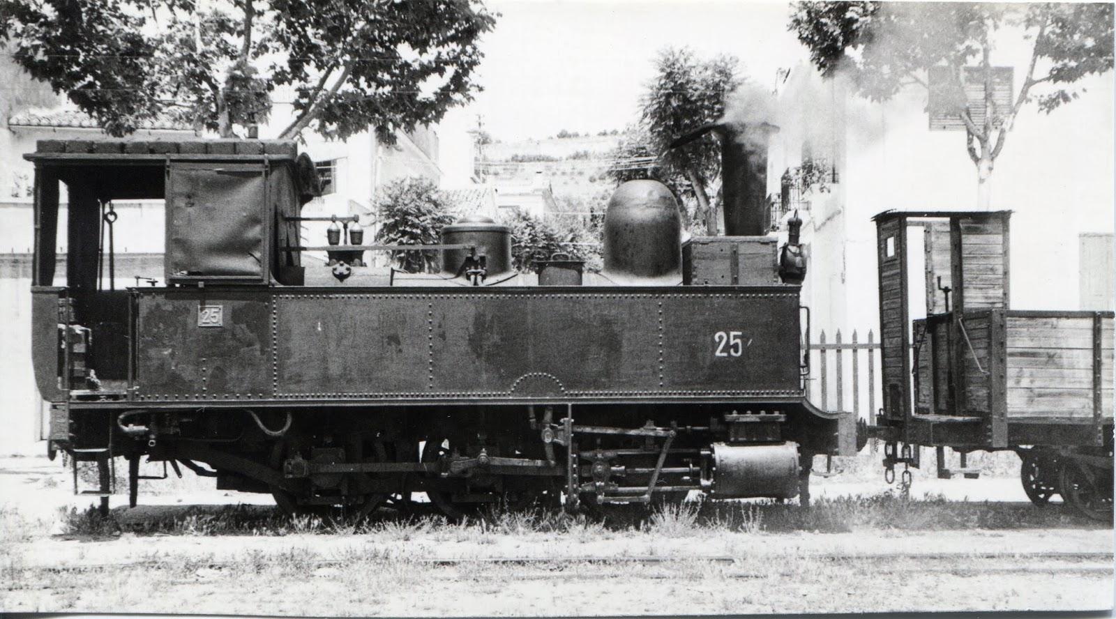Locomotora nº 25 del Carcagente a Gandia , foto Xavier Santamaria