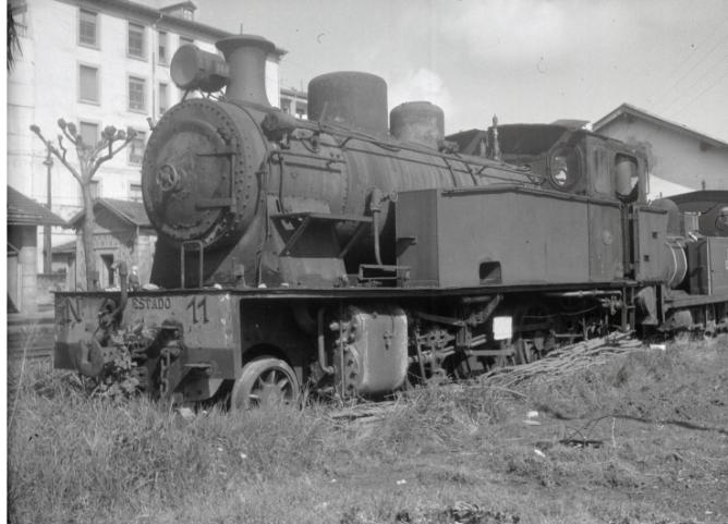 Locomotora nº 11 del Vasco Navarro en Guernica
