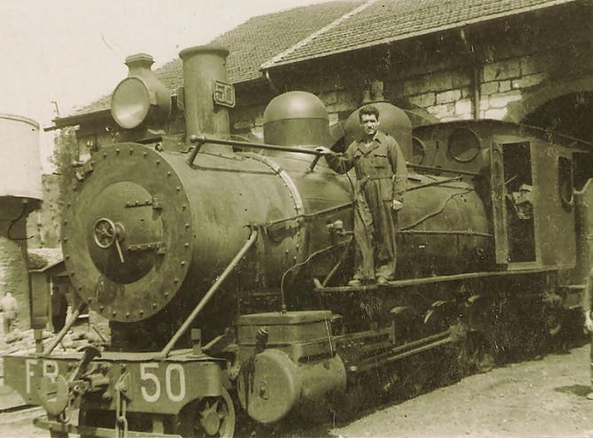 Locomotora nº 50 del Ferrocarril de La Robla , archivo Miguel Angel Garcia