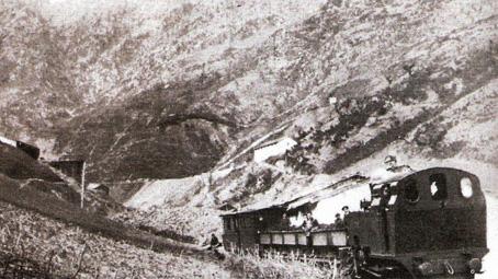 n el Ferrocarril minero de Arditurri, Foto : Pedro María Pérez Amuchastegui