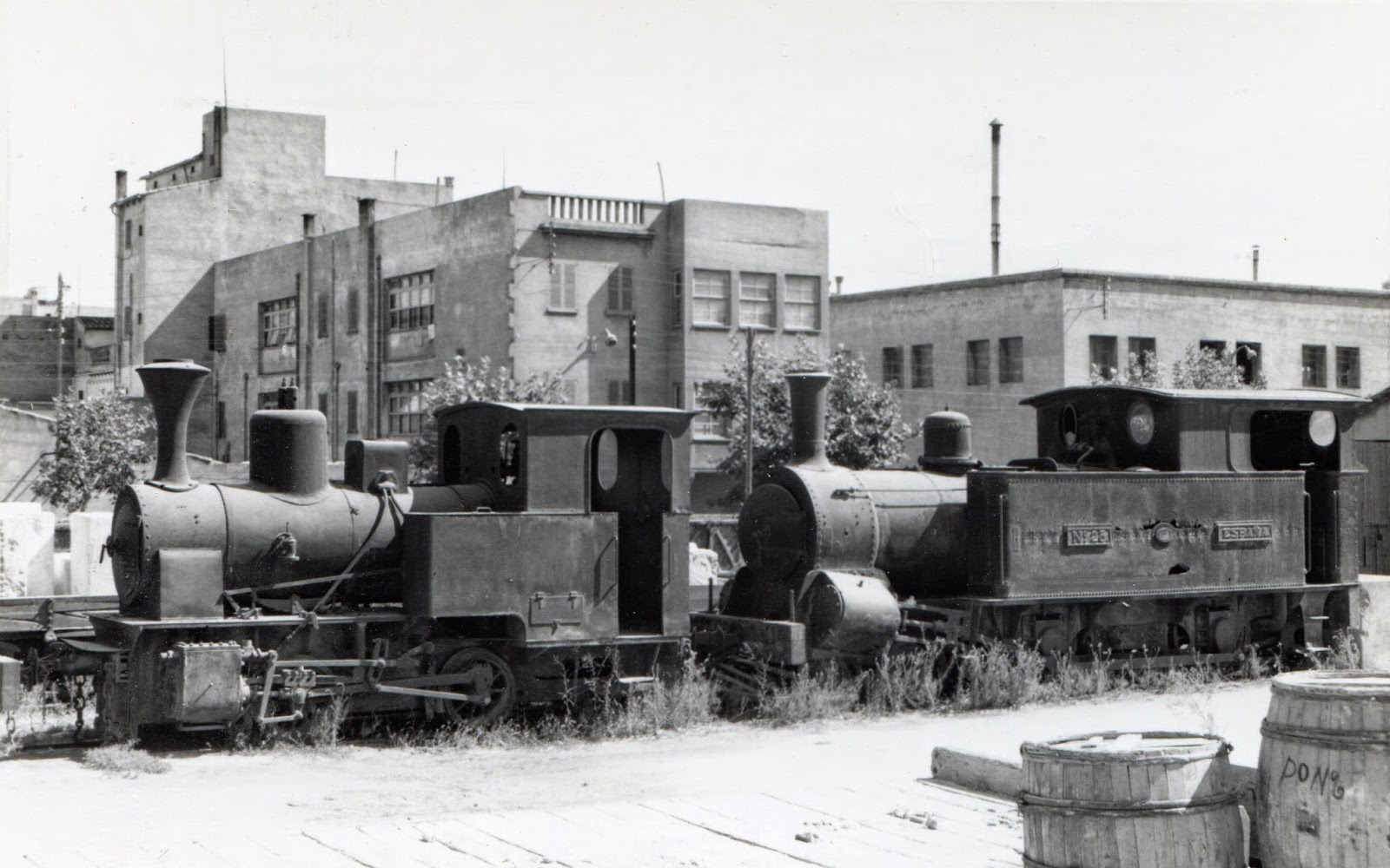 Locomotoras de Ferrocarriles de Mallorca , año 1958, foto Frank Jones, fondo Euskotren MVF