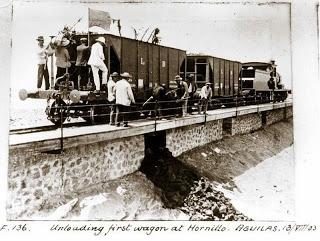 Lorca a Baza y Aguilas , descarga del primer vagon en el Hornillo.