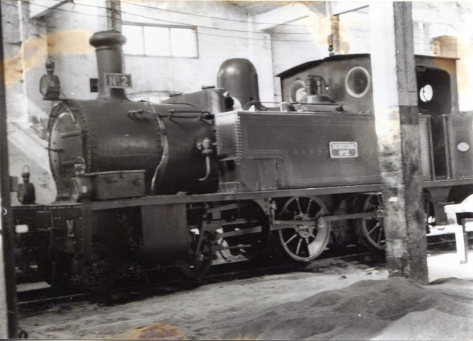 Luchana a Munguia , locomotora nº2 , foto John Byts , fondo MVF