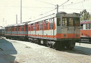 Metro de Madrid, año 1965, coche M-1022, foto José Sebastian