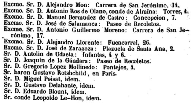 MZA Consejo en 1858