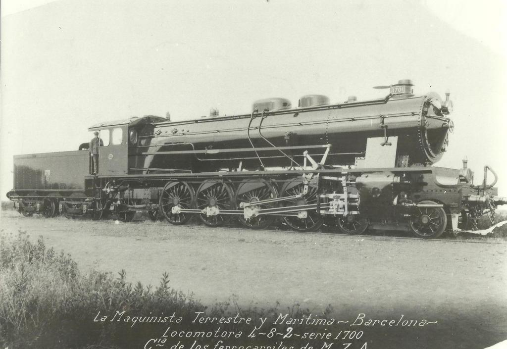 MZA, locomotora 241 serie 1700 , foto de fábrica en la MTM