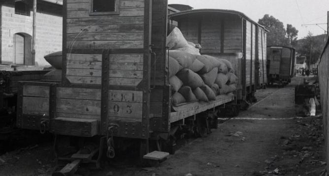 Material móvil del FEL en la estación de Linares-Baeza, foto M. Salinas