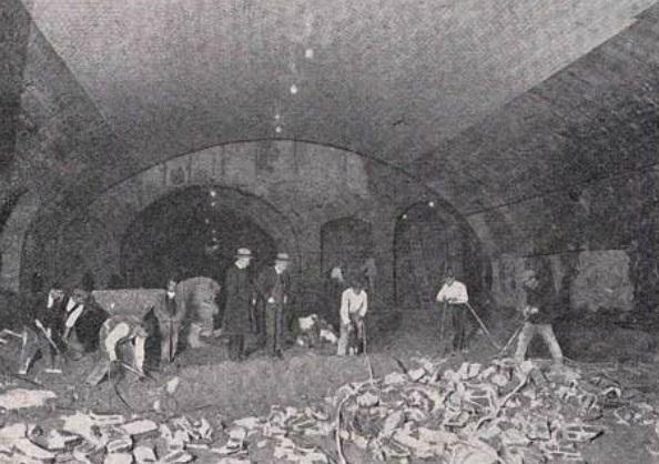 Meetropolitano de Madrid, trabajos en la estacion de Ventas, año 1924 , revista Ingenieria y Construccion