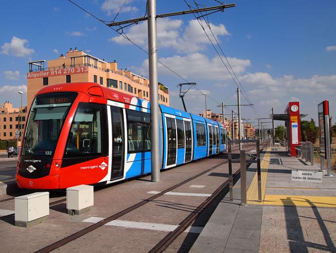 Metro Ligero de Madrid en Las Tablas, fotografia Tiia Monto