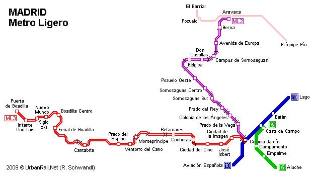 Metro Ligero de Madrid , lineas 2 y 3