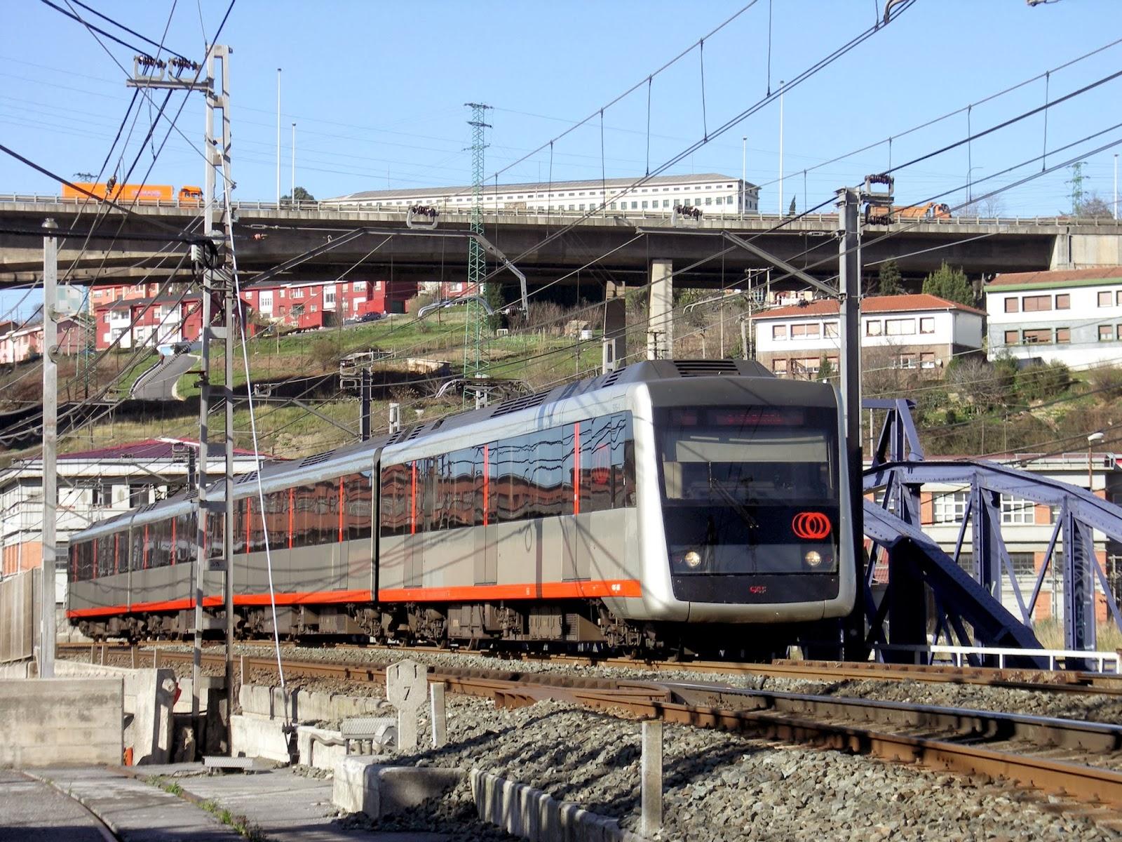 Metro de Bilbao en Lutxana , foto Juanjo Olaizola Elordi