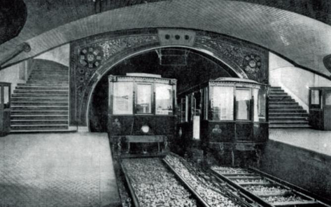 Metro de Madrid , estacion de Progreso (Tirso de Molina, Linea 1 ,Fondo CRTM
