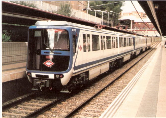 Metro de Madrid.M-2712-Est. Empalme, dic 1997, Eurofer,Mariano Orozco