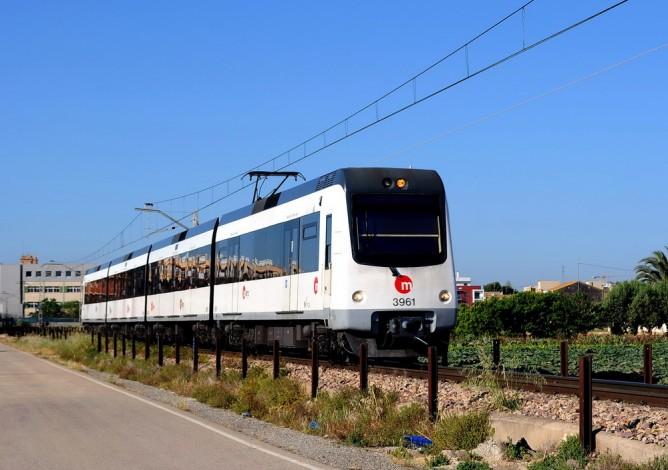 Metro de Valencia, FGV, unidad 4309 en Almassera, Fondo Enrique Andres