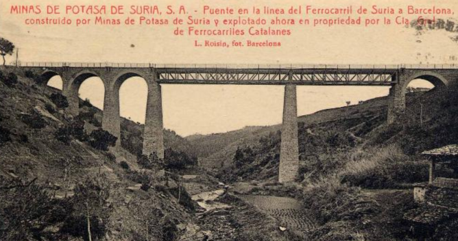 Minas de Suria . Puente. fondo Todocoleccion