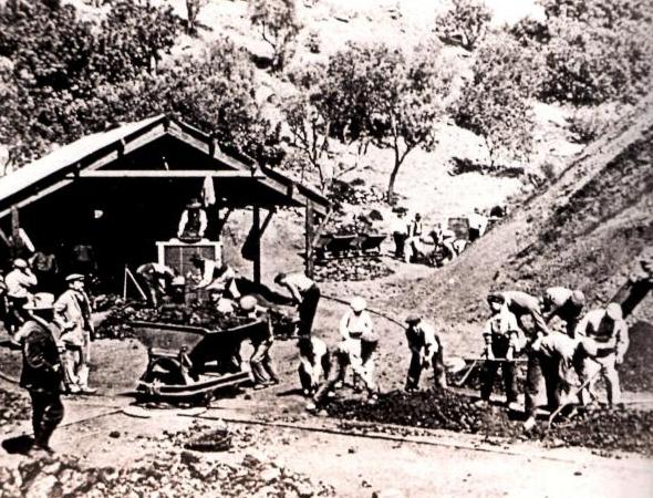 Mines de Can Plomeres, mina Angelita , Ayuntamiento de Malgrat, Archivo Ayuntamiento de Malgrat de Mat , fondo Juli Cardona