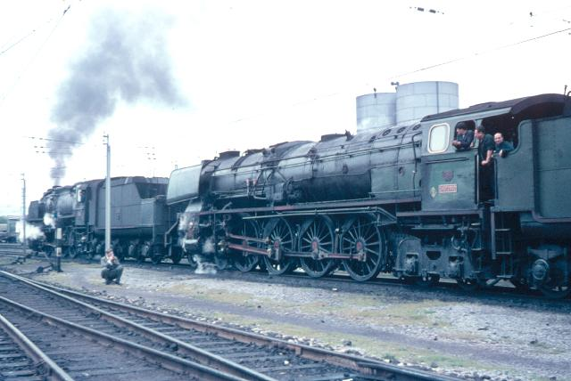 Miranda de Ebro Renfe 242F-2002, abril 1967, foto graham T.V. Stacey