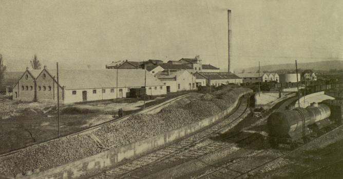 Miranda de Ebro, enlace de la factoria con la linea de Tudela a Bilbao
