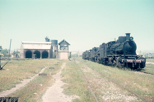 Murcia , locomotoras Mallet 060-4001 al 4007, foto Charles F. Firminger