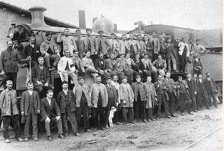 Oeste de España. Personal del deposito de Salamanca, año 1920. anónimo
