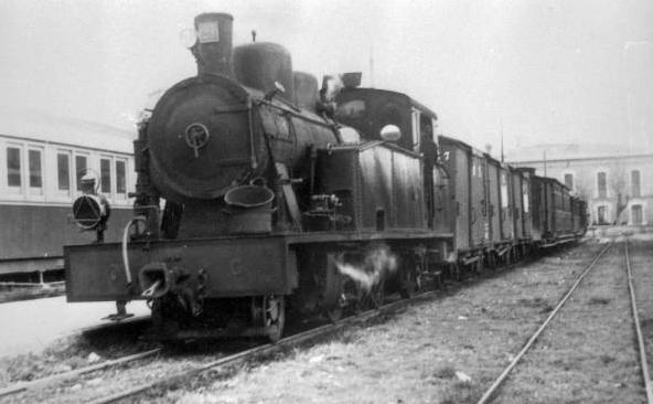 Olot-Gerona, locomotora nº 21 , año 1967, Archivo Cuyás, Fondo ICC