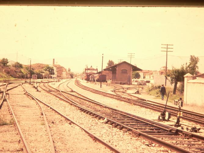Estacion de Guadix ,año 1984, foto Juan Peris Torner