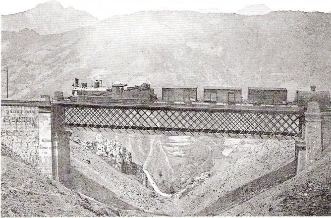 Pajares, viaducto de Matarredona, colección Jose Luis Pérez Galindo
