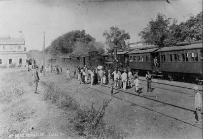 Estación de Peñaflor, c. 1910, autor desconocido