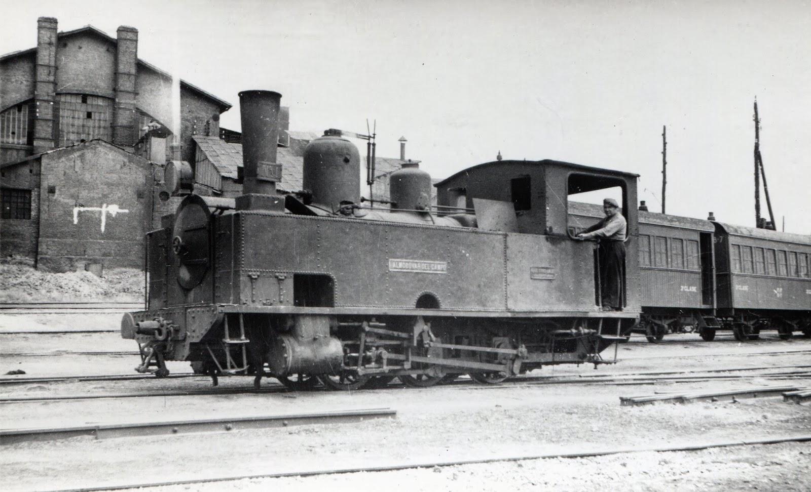 Peñarroya a Puertollano , locomotora Almodovar del Campo , Foto Gustavo Reder
