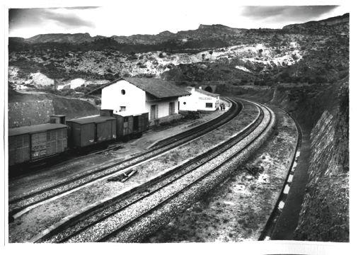 Pinell de Bray, Fotografo Francisco Rivera , fondo : Museu del Ferrocarril de Catalunya