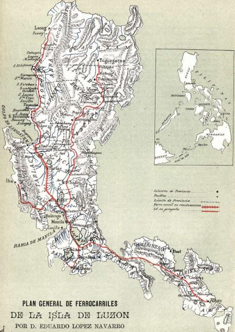 Plan de Gerrocarriles de la Isla de Luzon
