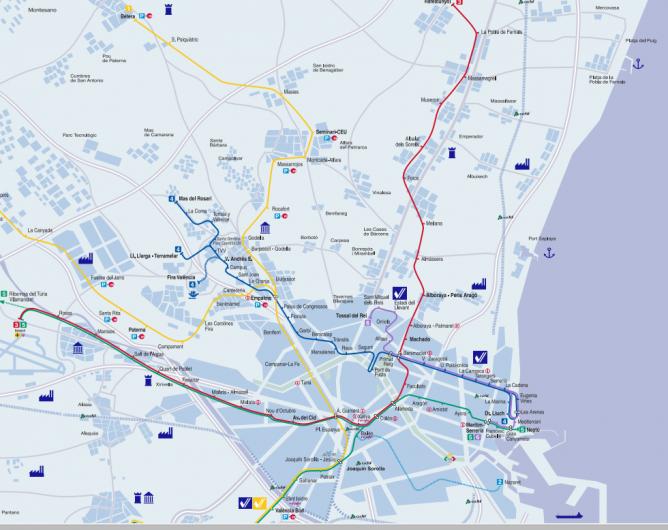 Plano del Metro de Valencia
