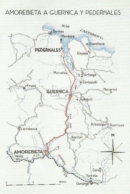 Plano de la linea de Amorebieta a Guernika y Pedernales