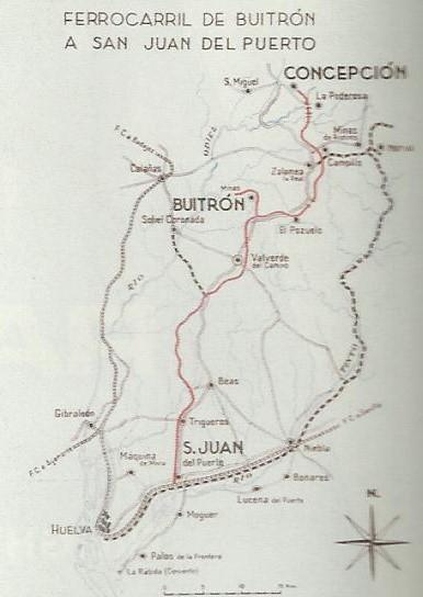 Plano de la linea de Buitron a San Juan del Puerto
