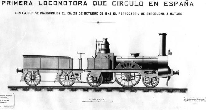 Plano de la Mataró año 1875, dibujo de la Escuela Industrial de Barcelona, autor Manuel Garbayo Moreno