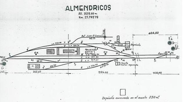 Plano de la estacion de Almendricos, fondo Jose Antonio Serrano