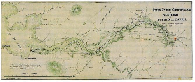 Plano del proyecto de Thomas Rumball , año 1860, Archivo Museo Provincial de Pontevedra