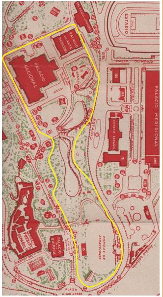 plano-del-recorrido-del-tren-de-la-exposicion-de-barcelona-sobre-datos-de-la-documentacion-de-francisco-arauz
